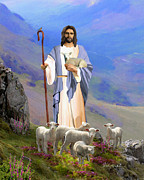Christian Art Paintings - Lord My Shepherd by Dale Kunkel