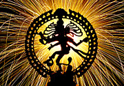 Indian Deities Metal Prints - Lord of the Dance Metal Print by Tim Gainey