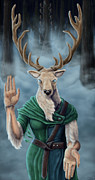 Stag Digital Art - Lord of the Forest by Alexa Renee Smothers