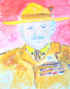Aids Paintings - Lord Robert Baden Powell and Scouting 2 by Richard W Linford