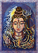Yellow Cobra Prints - Lord Shiva Print by Harsh Malik