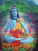 Lord Shiva Print by Mila Kronik