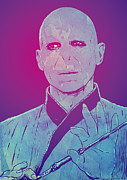 Movie Drawings Prints - Lord Voldemort Print by Giuseppe Cristiano