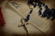 Rosary Posters - Lords Prayer Poster by Teresa Thomas