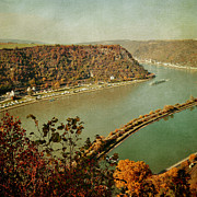 Rhine Valley Posters - Lorelei Rhine view Poster by Iris Lehnhardt
