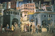 The Good Life Posters - Lorenzetti, Ambrogio 1285-1348 Poster by Everett