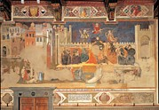 School Houses Photos - Lorenzetti Ambrogio, Allegory Of Bad by Everett