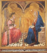 Annunciation Framed Prints - Lorenzetti Ambrogio, Annunciation Framed Print by Everett