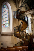 Tapestries Framed Prints - Loretto Chapel Staircase Framed Print by Jim McCain