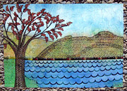 Hills Tapestries - Textiles - Lorn Lake by Jean Baardsen