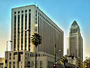 Los Angeles City Hall Print by Gregory Dyer