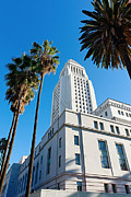Jamie Pham - Los Angeles City Hall with Palm Trees.