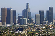 Los Angeles Skyline Framed Prints - Los Angeles Framed Print by Dan Holm