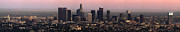 Los Angeles Skyline Metal Prints - Los Angeles Dusk Metal Print by Rene Sheret