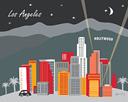 Cities Digital Art - Los Angeles by Karen Young