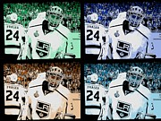 Goalie Digital Art Framed Prints - Los Angeles Kings Framed Print by RJ Aguilar