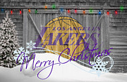 Los Angeles Lakers Metal Prints - Los Angeles Lakers Metal Print by Joe Hamilton