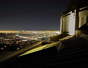 Griffith Framed Prints - Los Angeles skyline from the Griffith Observatory Framed Print by Jetson Nguyen