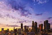 Los Angeles Skyline Digital Art - Los Angeles Sunset by Ike Kraushaar