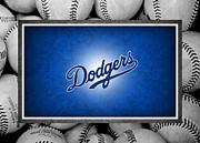 Baseballs Posters - Los Angles Dodgers Poster by Joe Hamilton