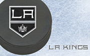 Puck Prints - Los Angles Kings Print by Joe Hamilton