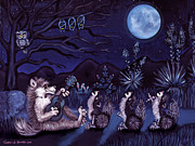 Wolf Howling Paintings - Los Cantantes or The Singers by Victoria De Almeida