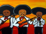 Guys Paintings - Los Mariachis by Carlos Alvarado