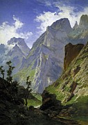 1876 Paintings - Los Picos de Europa by Pg Reproductions