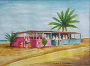 Puerto Rico Paintings - Los Pinones Shack 3 by Frank Hunter