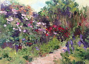 Daily Painter Prints - Los Poblanos Garden Print by Carol Hopper