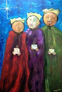 Holiday Art Work Art - Los Reyes Magos by Reina Resto