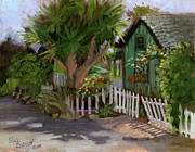Picket Fence Originals - Los Rios Street San Juan Capistrano California by Alice Leggett