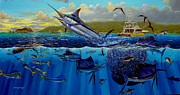 Striped Marlin Framed Prints - Los Suenos Framed Print by Carey Chen