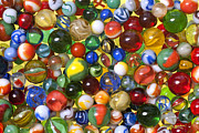 Toys Digital Art Metal Prints - Lose Your Marbles Metal Print by Carole Gordon