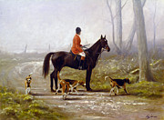 Equestrian Prints Art - Losing the scent by John Silver