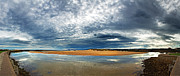 Breakwater Framed Prints - Lossiemouth pano Framed Print by Jane Rix