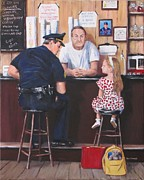 Police Officer Painting Metal Prints - Lost And Found Metal Print by Jack Skinner