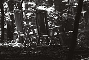 Rocking Chairs Metal Prints - Lost and Found Metal Print by Rebecca Sherman