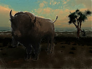 Bison Digital Art - Lost Bison by Steve Caunce