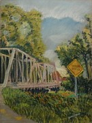 Iron  Pastels - Lost Bridge by Tim  Swagerle