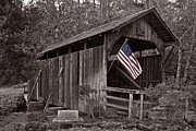 Tim Moore Metal Prints - Lost Creek Covered Bridge Metal Print by Tim Moore