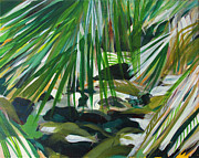 Mediative Paintings - Lost Creek by Fatima Neumann
