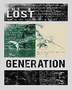 Historical Digital Art - Lost Generation Writers by Pop Culture Prophet