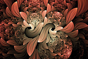 Youthful Digital Art Metal Prints - Lost In Dreams Abstract Metal Print by Zeana Romanovna