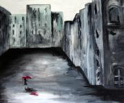 Julia Lueders Paintings - Lost in Life by Julie Lueders