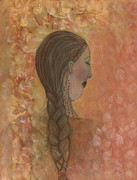 Braid Paintings - Lost In Prayer by Nancy TeWinkel Lauren