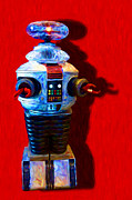 Antiques Digital Art Posters - Lost In Space Robot - 20130117 Poster by Wingsdomain Art and Photography