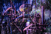 Machinery Metal Prints - Lost In The Weeds Metal Print by Garry Gay