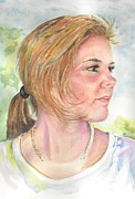 Portraits Paintings - Lost in Thought by Mary Dunham Walters