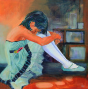 Dance Shoes Painting Posters - Lost in Thought Poster by Sue  Darius